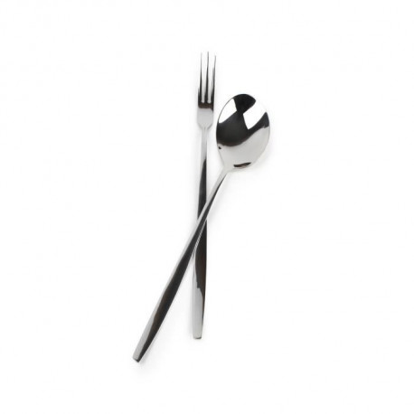 YONG Set de 2 couverts a spaghetti Collection Blanco