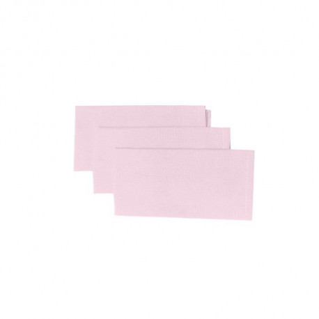 SOLEIL D'OCRE Lot de 3 serviettes de table Panama - 45x45 cm - Rose