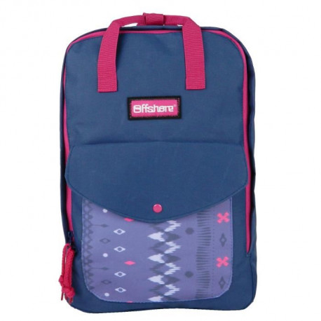 OFFSHORE - SAC A DOS College Fille 27x11x40 VIOLET