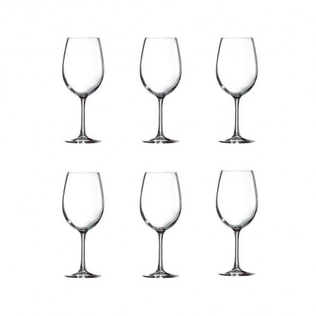 ARCOROC CARBENET Lot de 6 verres a vin 35 cl transparent