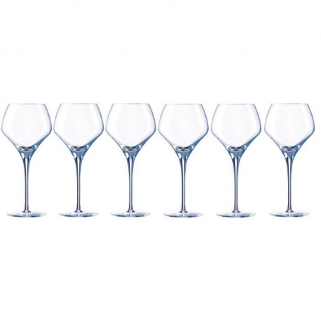 CHEF ET SOMMELIER Lot de 6 verres a vin OPEN'UP - 37 cl