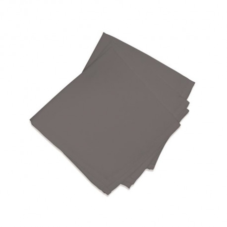 SOLEIL D'OCRE Lot de 3 serviettes de table ALIX - Gris Anthracite