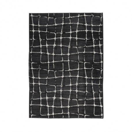 LUXUS Tapis de salon contemporain - 160x225cm - Noir