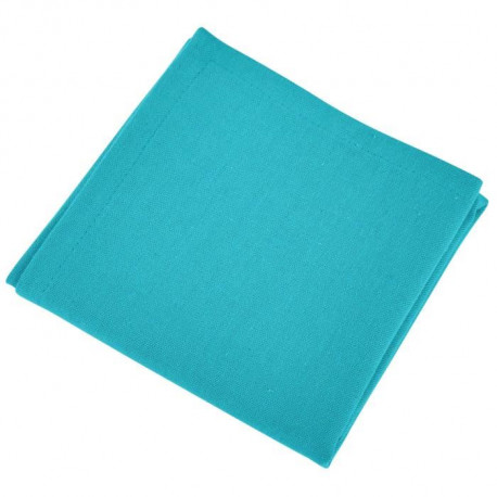 VENT DU SUD Lot de 12 serviettes de table Yuco - Vert Jade