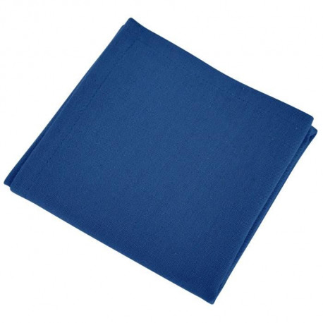 VENT DU SUD Lot de 12 serviettes de table Yuco - Bleu Indigo