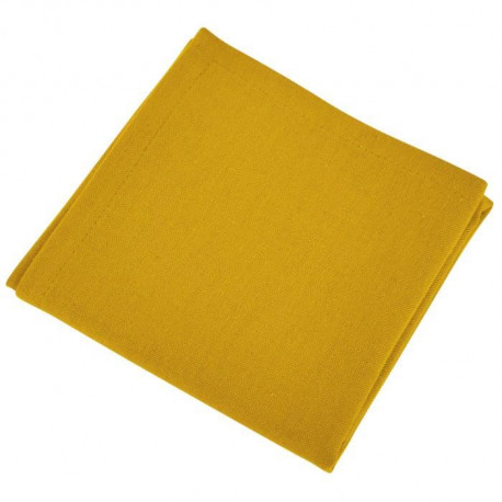 VENT DU SUD Lot de 12 serviettes de table Yuco - Jaune Curry