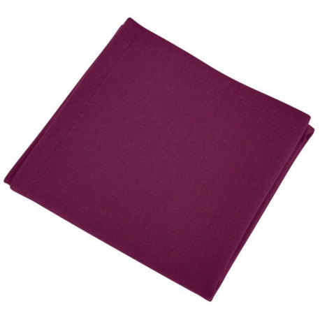 VENT DU SUD Lot de 12 serviettes de table Yuco - Rouge Cassis
