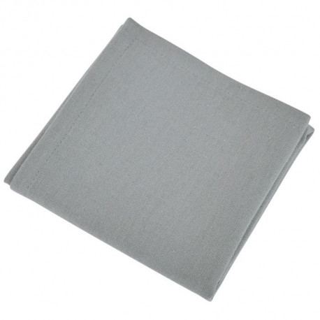 VENT DU SUD Lot de 12 serviettes de table Yuco - Gris Acier