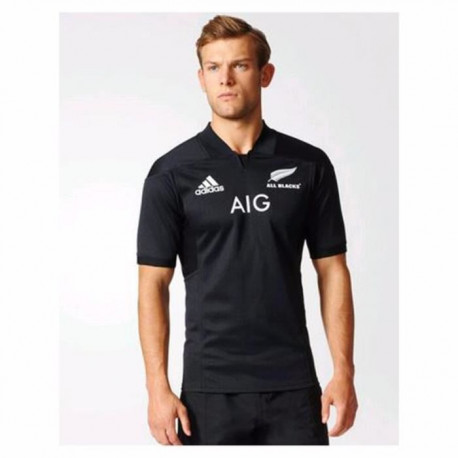 ADIDAS Maillot de rugby All blacks Home 17 - Homme - Gris souris