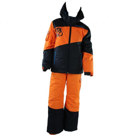 FREEGUN Ensemble Ski - Bleu Orange - Enfant Garçon