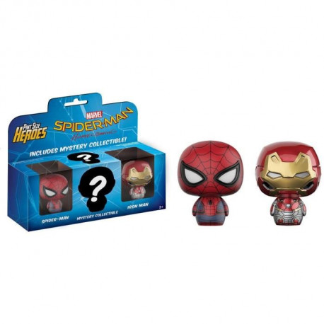 3 Figurines Funko Mystery Minis Marvel - Spider-Man: Spider-Man, Iron Man & Mystery Collectible