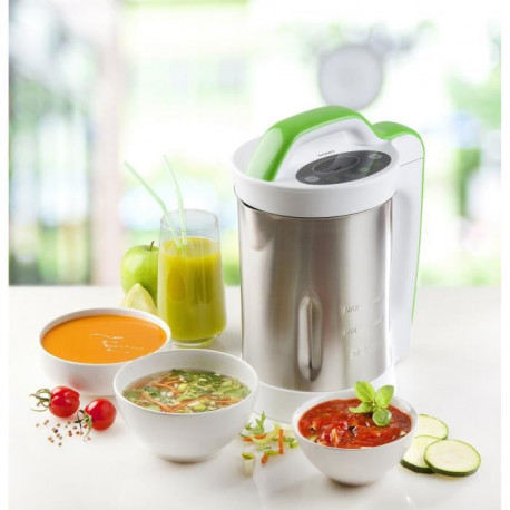 DOMO DO499BL Blender SOUP MAKER ? Inox et Vert