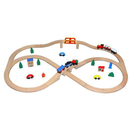 SAPIN MALIN Circuit Train Double 49 Pieces