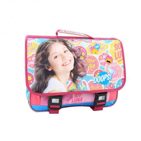 SOY LUNA Cartable 1 compartiment - Primaire - Fille - 41 cm - rose