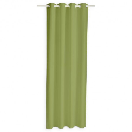 TODAY Rideau occultant a oeillets - 140 x 260 cm - Vert bambou