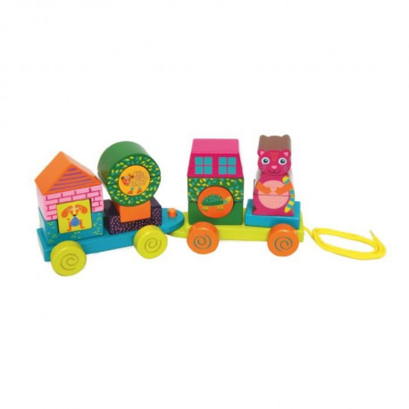Oops -  Fun Forest & City Train - Train Multi-activités Forest & City