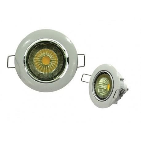 Spot encastrable LED diametre 8,2 cm GU10 5W équivalent a 40W chrome