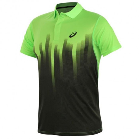 ASICS Polo Manches Courtes Tennis Resolution Homme