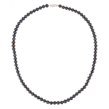PERLINEA Collier Perles de Culture et Or Blanc 375° Femme