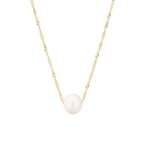 PERLINEA Collier Perle de Culture et Or Jaune 375° Femme
