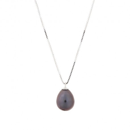 PERLINEA Collier Perle de Culture et Or Blanc 375° Femme