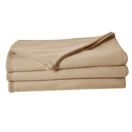 Couverture polaire Polfirst - 100% polyester 250g/m² - Sable - 150 x 220 cm