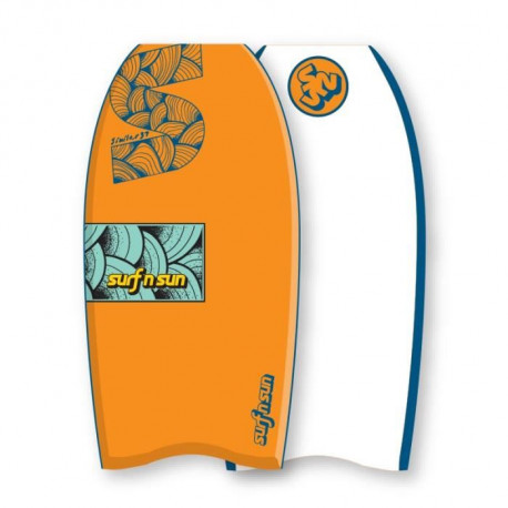 "SURF & SUN Bodyboard Similar EPS 33"" - Orange et bleu"