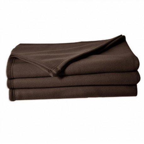 Couverture polaire Polfirst - 100% polyester 250g/m² - Chocolat - 150 x 220 cm