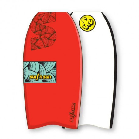 "SURF & SUN Bodyboard Similar EPS 37"" - Rouge et bleu"