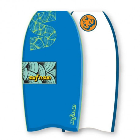 "SURF & SUN Bodyboard Similar EPS 37"" - Vert et orange fluo"