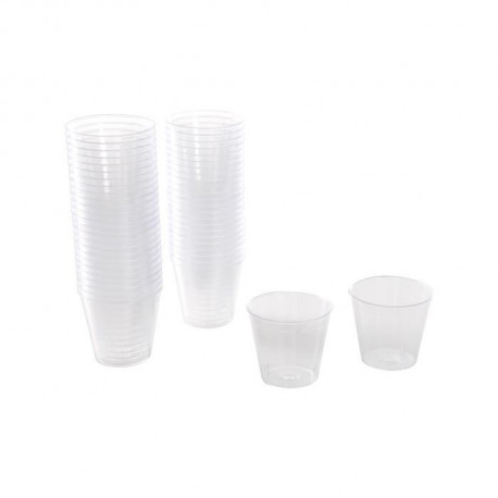 Lot de 50 mini verrines jetables 30 ml transparent