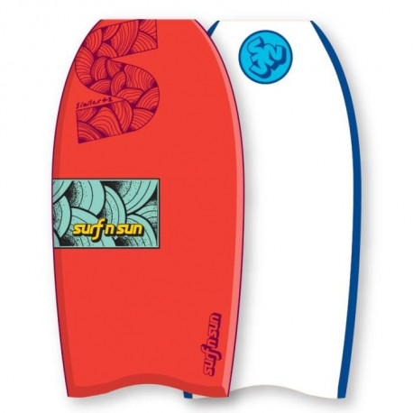 "SURF & SUN Bodyboard Similar EPS 39"" - Orange et bleu"