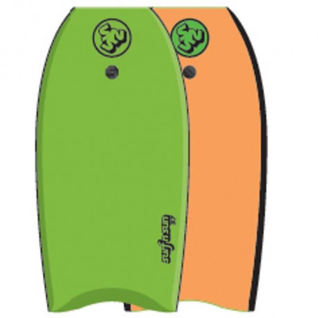 "SURF & SUN Bodyboard Similar EPS 41"" - Vert et orange fluo"