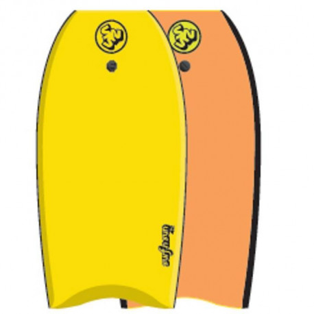 "SURF & SUN Bodyboard Similar EPS 42"" - Jaune et orange fluo"