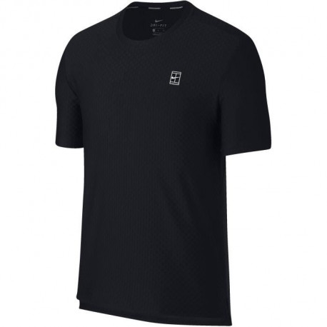 NIKE T-shirt de tennis Checkered - Homme - Noir