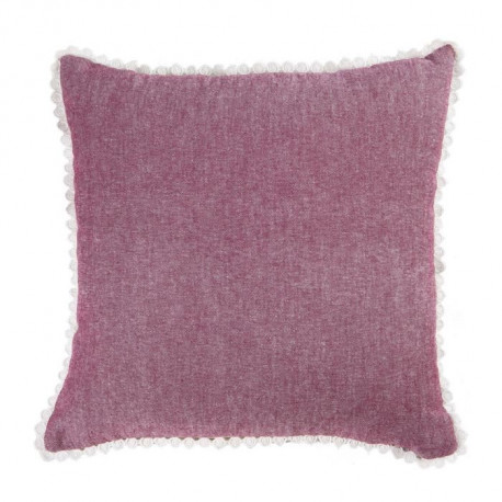 DEKOANDCO Coussin 40x40 cm CHINNY ROUGE/LIN