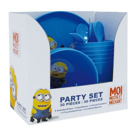 LES MINIONS Party Set de 30 pieces