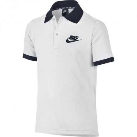 NIKE Polo Nsw Match up - Enfant - Blanc