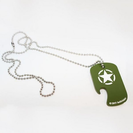 Décapsuleur Collier Call of Duty : Dog Tag - Vert