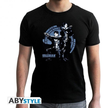 T-shirt Homme Valerian : Artwork - Noir