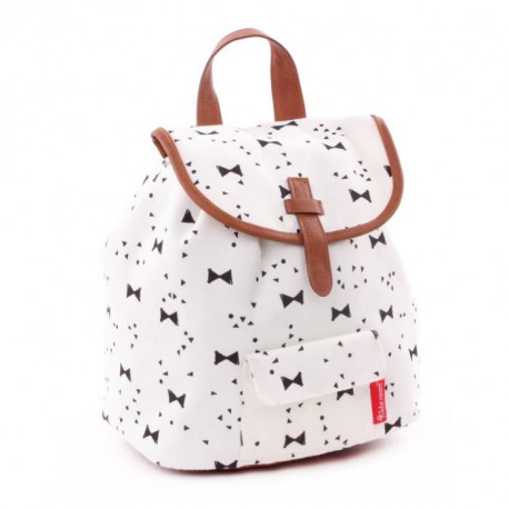KIDZROOM Sac a dos maternelle - Black & White Noeuds