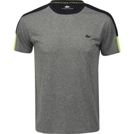 ATHLI-TECH T-shirt de tennis Eliaz- Homme - Gris chiné