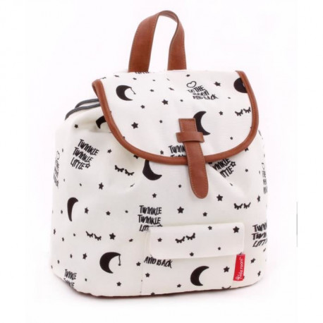 KIDZROOM Sac a dos maternelle - Black & White Scintillement