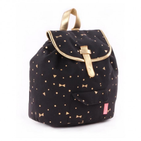 KIDZROOM Sac a dos maternelle - Gold Rush Noir