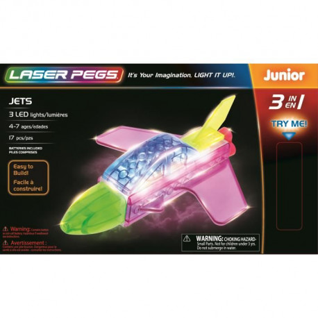 LASER PEGS Jeux de construction 3 in 1 Jets