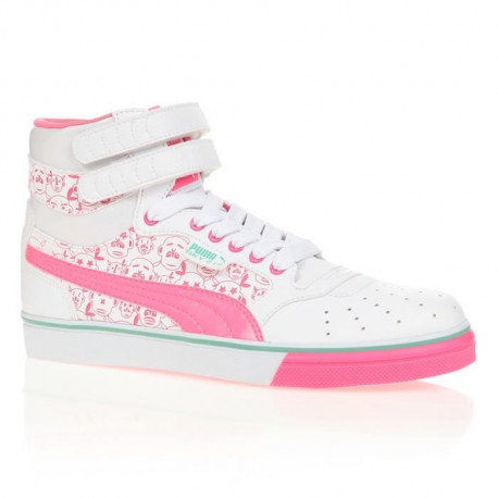 PUMA Baskets Sky Li Hi - Enfant Fille - Blanc et Rose