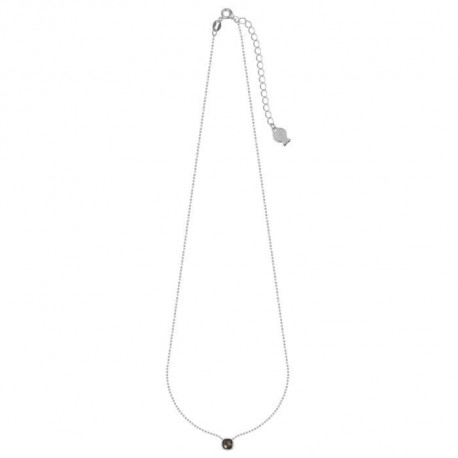 CLIO BLUE Collier Argent Et Quartz Smocky - CO2282