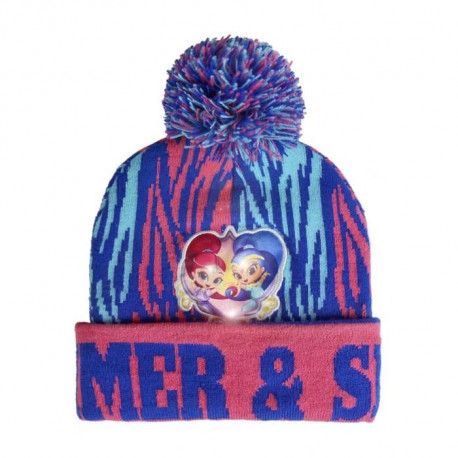 SHIMMER AND SHINE Bonnet a lumiere LED - Enfant Fille - Rose et bleu
