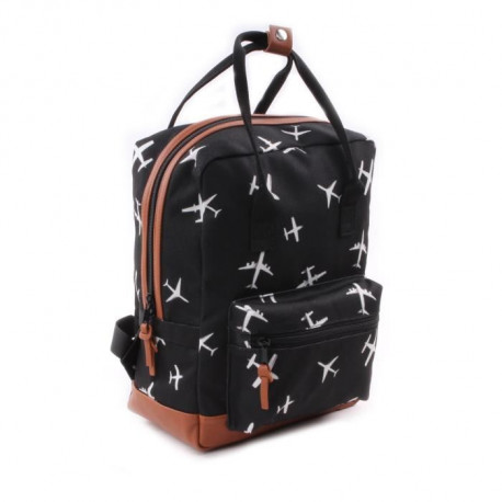 KIDZROOM Sac a dos maternelle - Black & White Avions