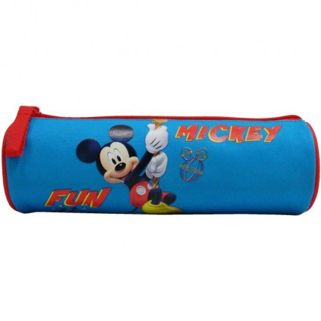 MICKEY Trousse Tube avec zippe 1 compartiment